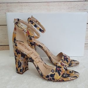 New Sam Edelman Yaro Tuscan Block Heel Sandal